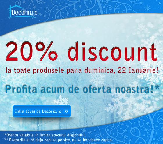20% Reducere la toate produsele Decorix.ro!